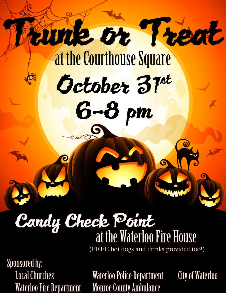 Trunk or Treat @ Monroe County Courthouse Square | Waterloo | Illinois | United States