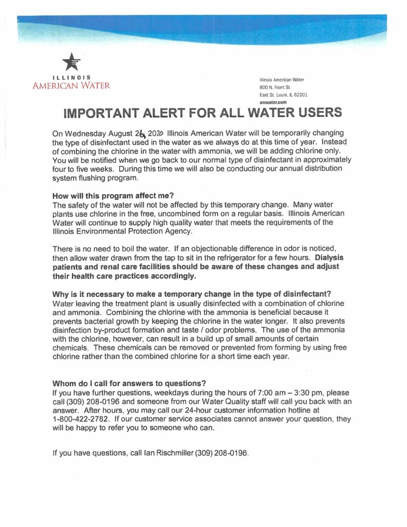 IL Am Water Notice