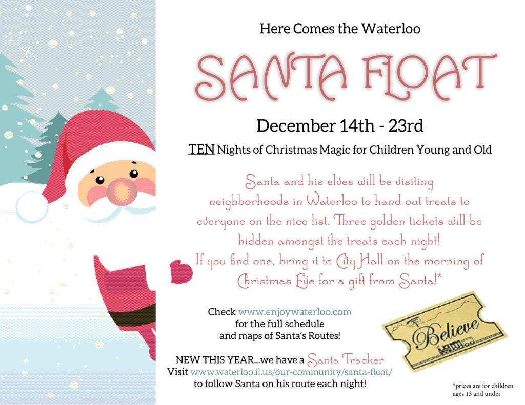 santa float flyer