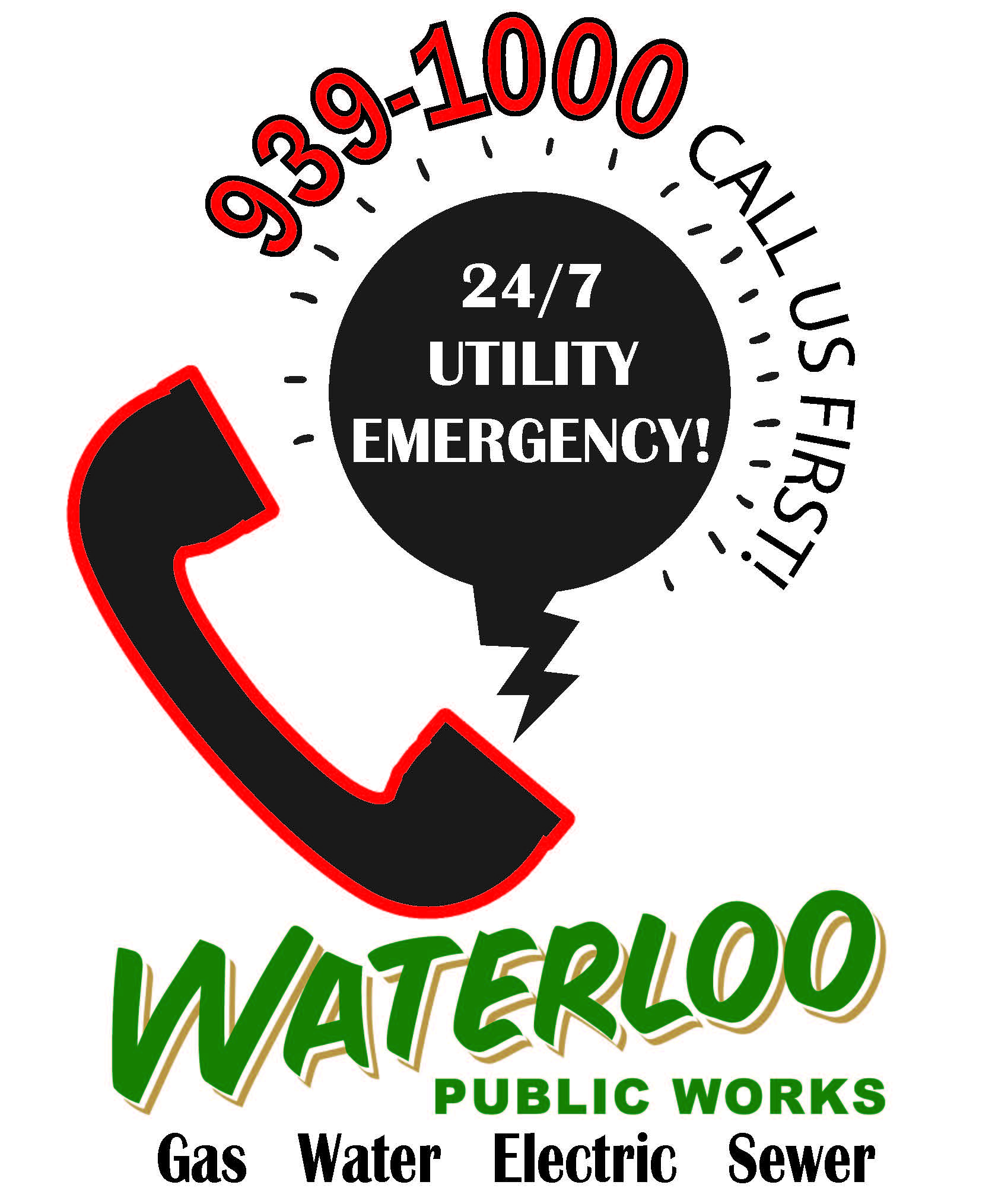 Call Us First City Utility Emergency Logo Good