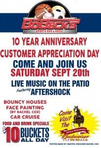 Bobecks 10 Year Anniversary Customer Appreciation @ Bobecks Sports Bar & Grill | Waterloo | Illinois | United States