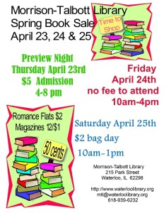 Morrison-Talbott Spring Book Sale @ Morrison-Talbott Library | Waterloo | Illinois | United States