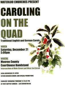Caroling on the Quad @ Monroe County Courthouse Bandstand | Waterloo | Illinois | United States
