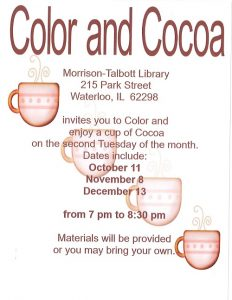Color and Cocoa @ Morrison Talbott Library | Waterloo | Illinois | United States