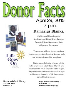 Donor Facts @ Morrison-Talbott Library | Waterloo | Illinois | United States