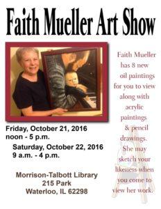 Faith Mueller Art Show @ Morrison Talbott Library   Waterloo   Illinois   United States