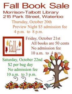 Fall Book Sale @ Morrison Talbott Library   Waterloo   Illinois   United States