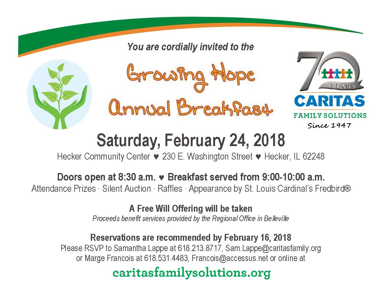 growing hope breakfast flyer