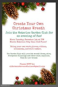 Waterloo Garden Club's Create Your Own Christmas Wreath @ Waterloo City Hall | Waterloo | Illinois | United States