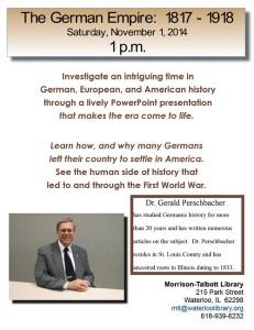 The German Empire: 1871-1918 @ Morrison-Talbott Library | Waterloo | Illinois | United States
