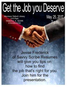 get the job you deserve flyer