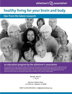healthy living for your brain flyer