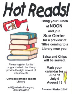 Hot Reads @ Morrison-Talbott Library | Waterloo | Illinois | United States