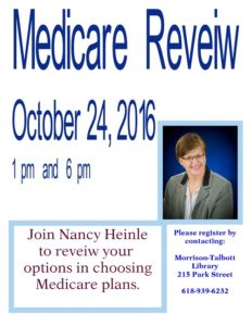 Medicare Review @ Morrison Talbott Library   Waterloo   Illinois   United States