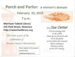 Porch and Parlor: a Woman's Domain @ Morrison-Talbott Library | Waterloo | Illinois | United States