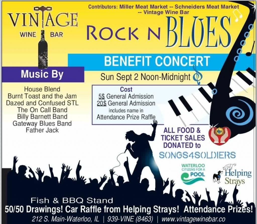Rock N Blues Benefit Concert @ Vintage Wine Bar | Waterloo | Illinois | United States