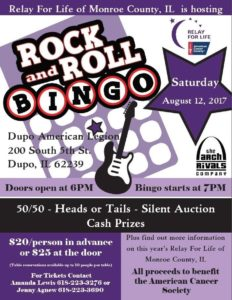 rock n roll bingo flyer