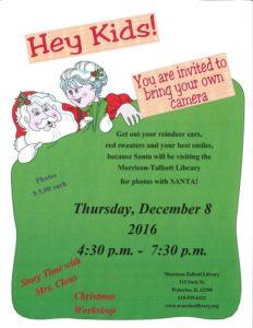 Santa Visit @ Morrison Talbott Library   Waterloo   Illinois   United States
