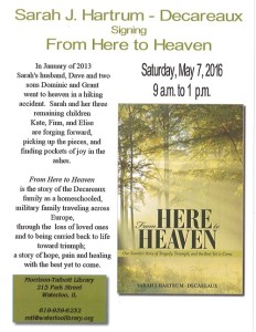 "Sarah J Hartrum-Decareauz signing ""From Here to Heaven"" @ Morrison Talbott Library 