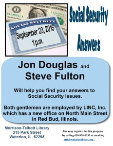 Social Security Answers @ Morrison-Talbott Library | Waterloo | Illinois | United States