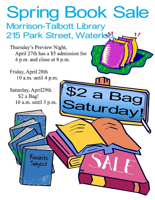 Spring Book Sale @ Morrison Talbott Library | Waterloo | Illinois | United States