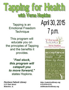 Tapping for Health @ Morrison-Talbott Library | Waterloo | Illinois | United States