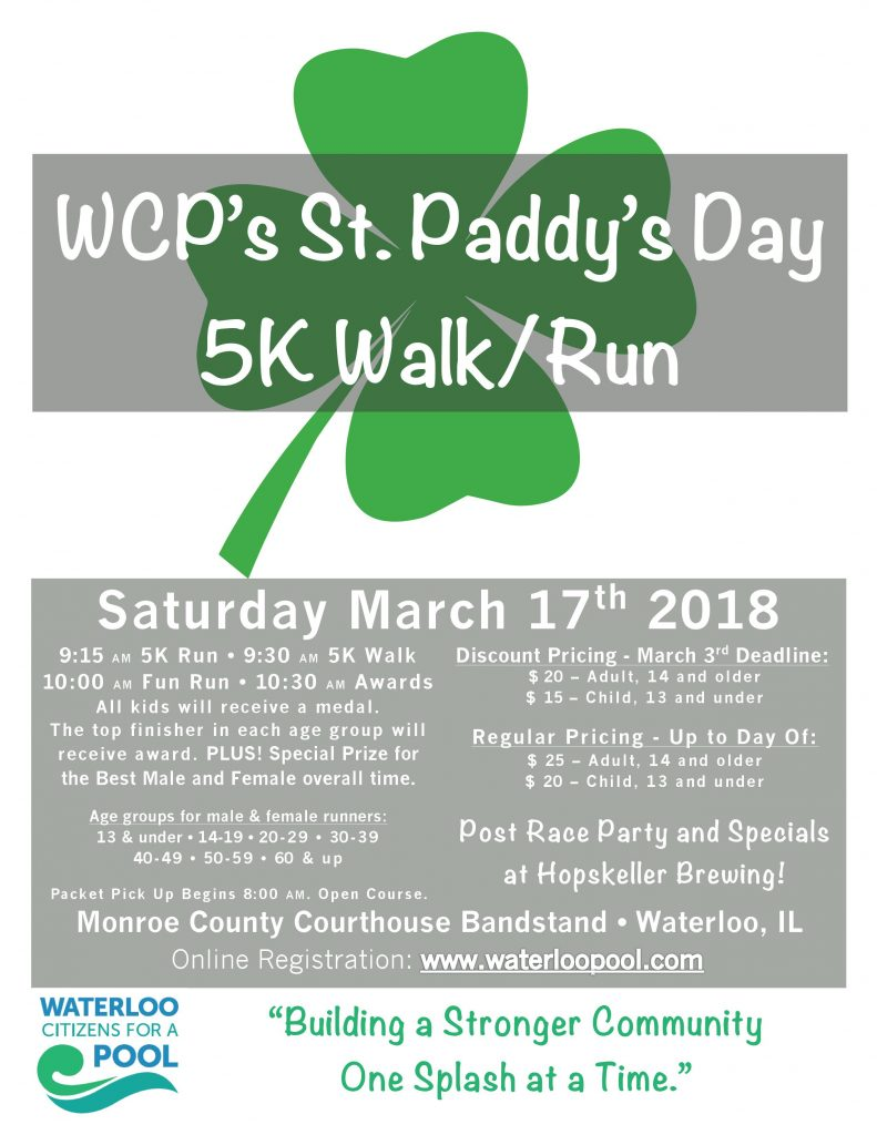 St. Paddy's Day 5K Flyer