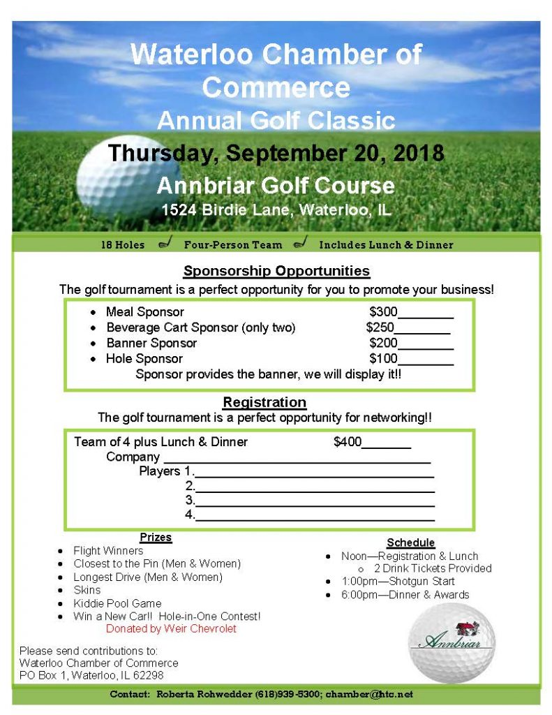 Waterloo Chamber of Commerce Golf Classic @ Annbriar Golf Course | Waterloo | Illinois | United States