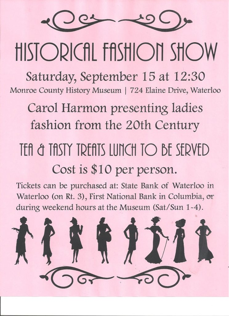 Tea/Luncheon/Fashion Show: 1900s Through 2000s with Runway Models from our Area @ Monroe County History Museum | Waterloo | Illinois | United States