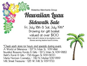 Hawaiian Luau Sidewalk Sale @ Waterloo Merchants