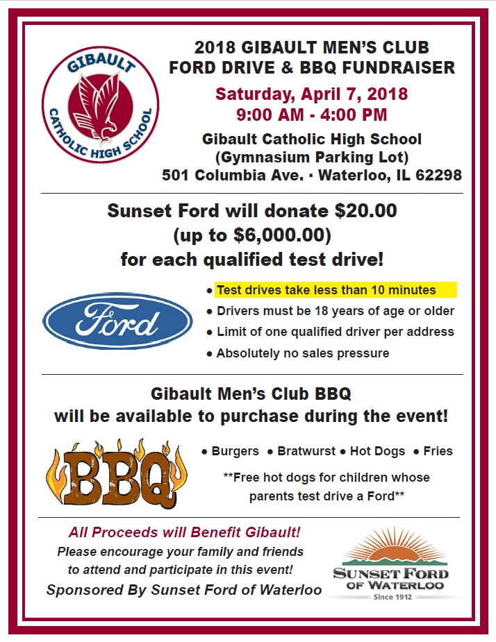 gibault s ford drive bbq fundraiser city of waterloo il