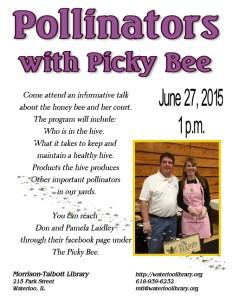 Pollinators with Picky Bee @ Morrison-Talbott Library   Waterloo   Illinois   United States