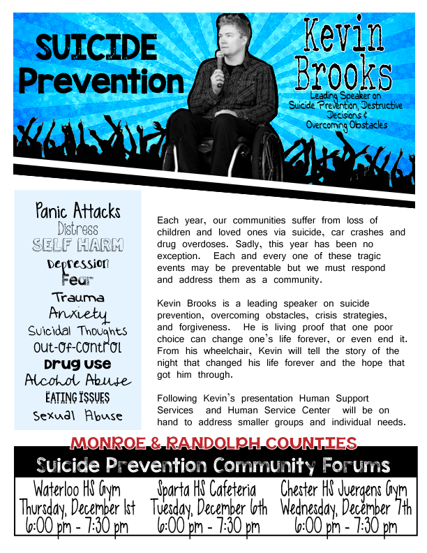 Suicide Prevention Community Forum @ Waterloo High School Gym | Waterloo | Illinois | United States