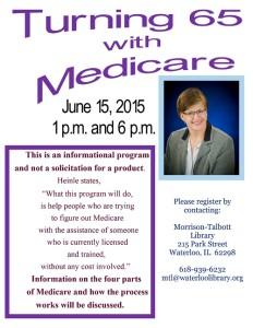 Turning 65 with Medicare @ Morrison-Talbott Library   Waterloo   Illinois   United States