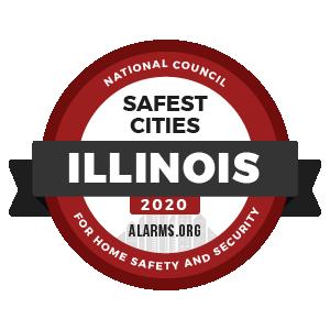 Alarms.org Safest Cities Illinois 2020