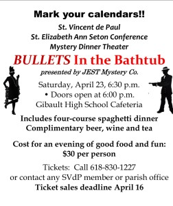 Bullets in the Bathtub Mystery Dinner Theater @ Gibault Catholic High School Cafeteria | Waterloo | Illinois | United States