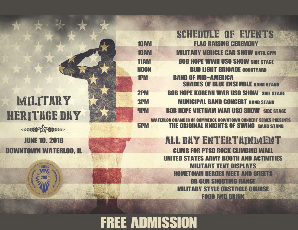 Military Heritage Day @ Downtown Waterloo   Waterloo   Illinois   United States